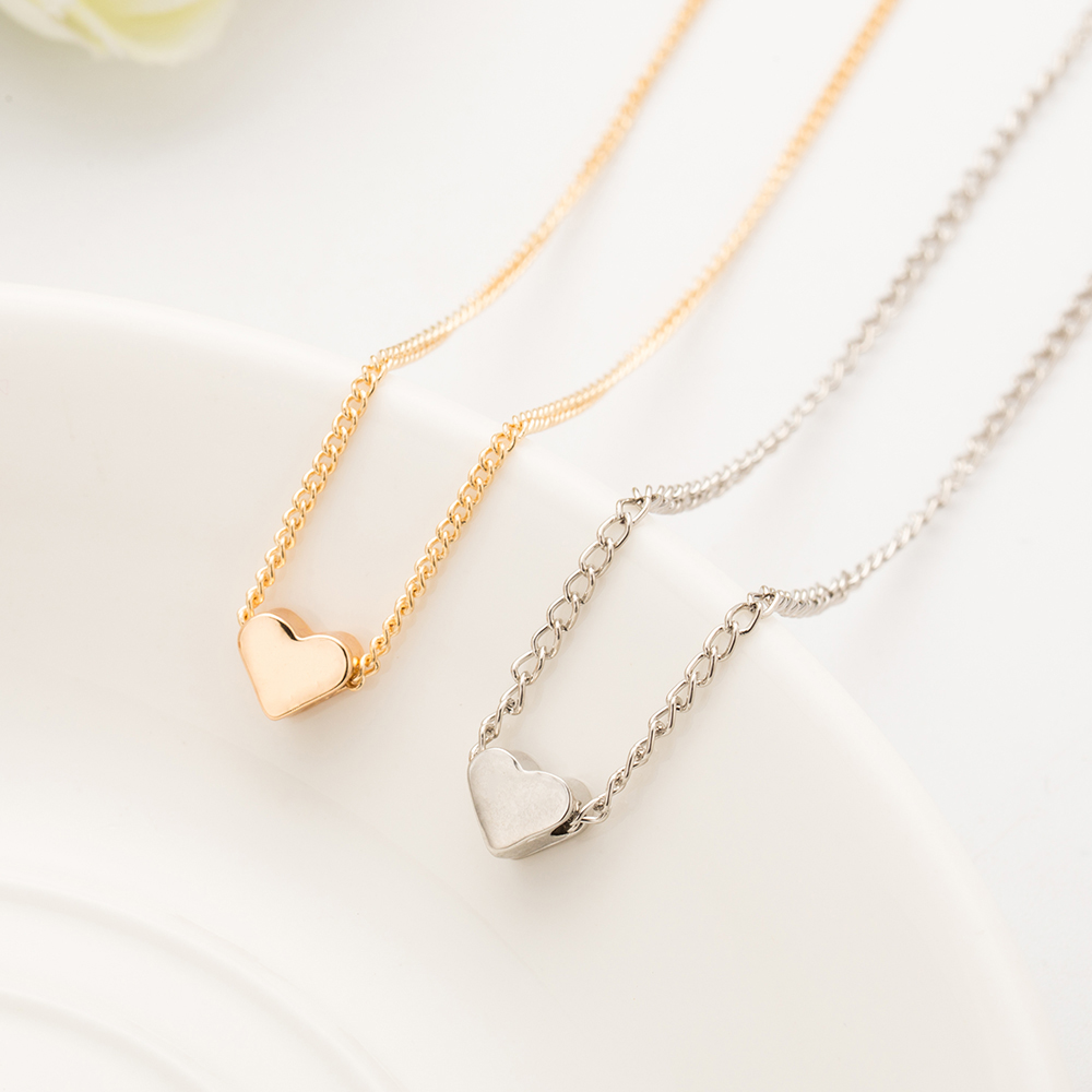 Aliutom 2017 new hot trendy tiny heart short pendant necklace women aliutom 2017 new hot trendy tiny heart short pendant necklace women gold chain lover lady girl mozeypictures Images