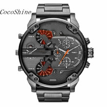 CocoShine A-923 Men's Fashion Luxury Watch Stainless Steel Sport Analog Quartz Mens Wristwatch wholesale