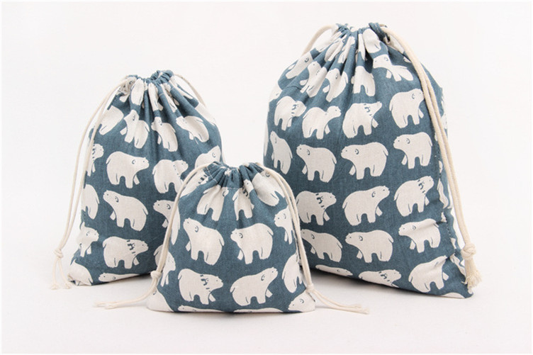 Drawstring Cotton Elephant Design Storage Bag For Christmas Gift Coffee Bean  Necklace Packaging Pouch Jewelry Bag - Elephant Bean Bags Reviews - Online Shopping Elephant Bean Bags