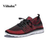 Mens Running Shoes Light Weight Mesh Sports Shoes Summer Breathable Jogging Sneakers For Man Outdoor Flat