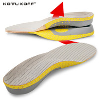 KOTLIKOFF PVC Adult Flat Foot Arch Support Orthotics Orthopedic Insoles For Men Women Shoe Inserts Shoes