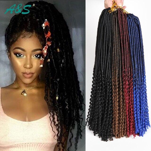18 Quot Premium Loose End Faux Locs Crochet Hair Crochet