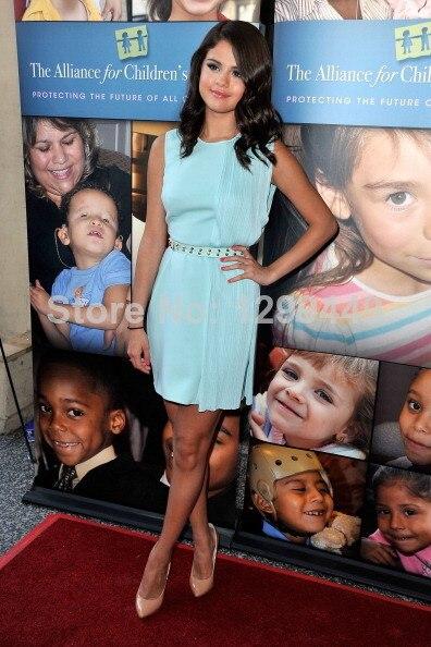 Aliexpress.com : Buy Light Sky Blue 2014 New selena gomez Dress ...