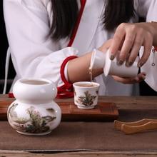 christmas Jingdezhen Japanese style ceramic wine warmer pot household hot sake yellow rice set