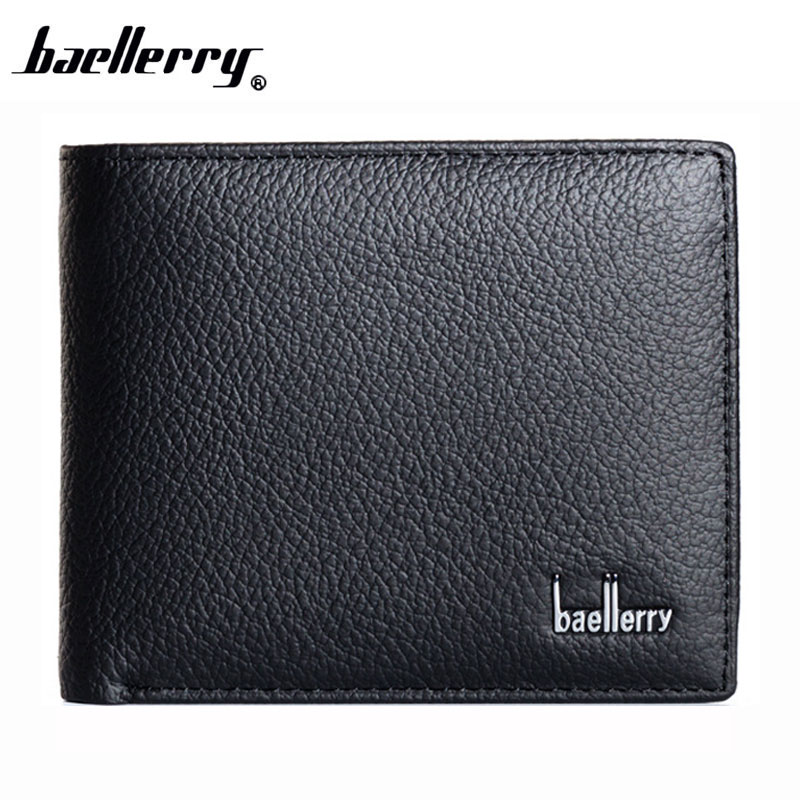 Baellerry New 2017 Genuine Leather Brand Men Wallets Design Short Small Wallets Male Mens Purses Card Holder Carteras, Hot Sale