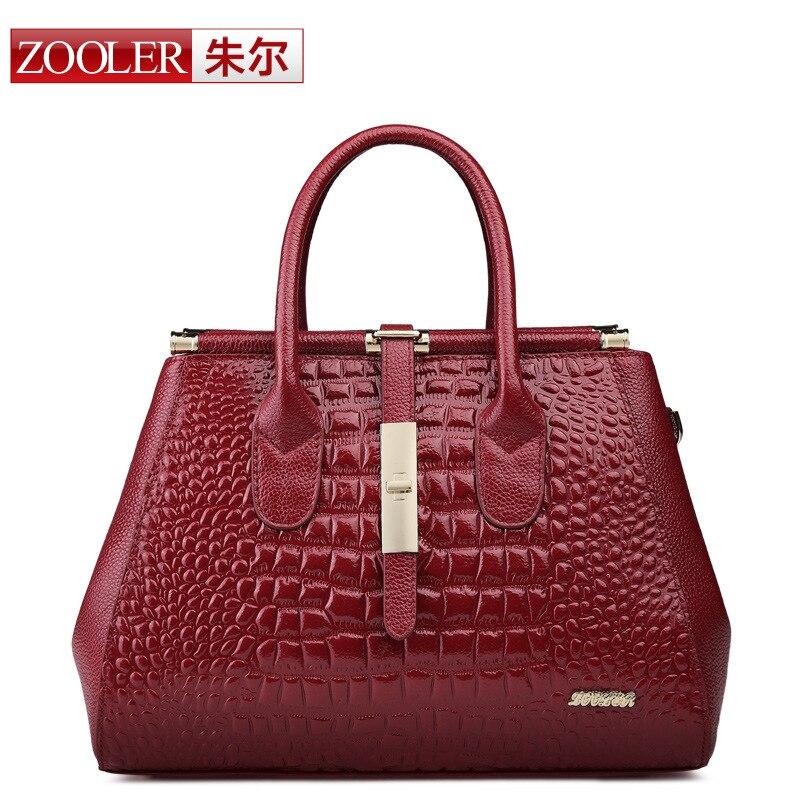Cuir Sacs Sac Femmes Crocodile D'affaires Shopping Main