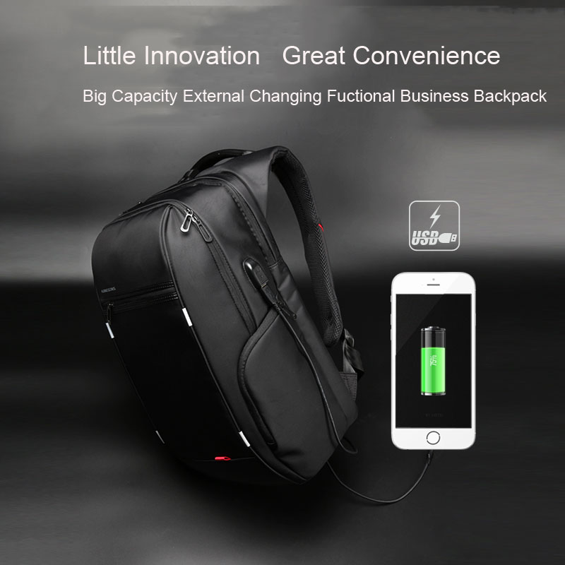 Kingsons Men Usb Charge Computer Bag Anti-theft Notebook Backpack 13 15 17 Inch Waterproof Laptop Backpack Women School Bag #4