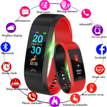 LIGE 2019 New Sport Smart Bracelet Heart Rate Monitor Pedometer Tracker Bluetooth Waterproof Fitness Watch Strap For Android IOS