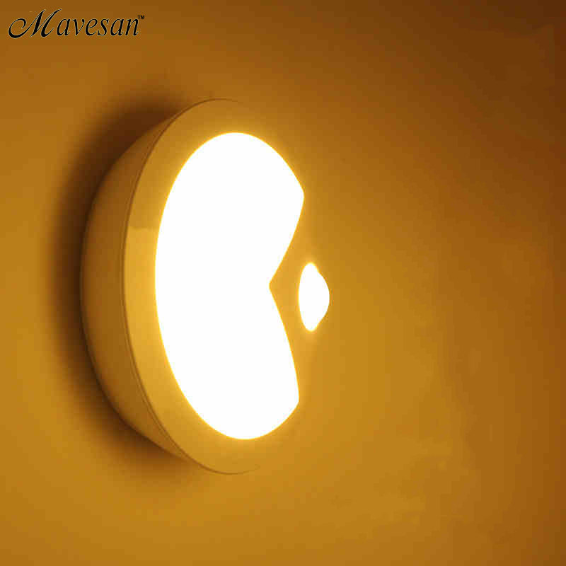 Novelty Infrared IR Bright Motion Sensor Activated LED Wall Lights Night Auto On/Off Battery Operated for Hallway Pathway mini infrared motion sensor led night lights wall lamps