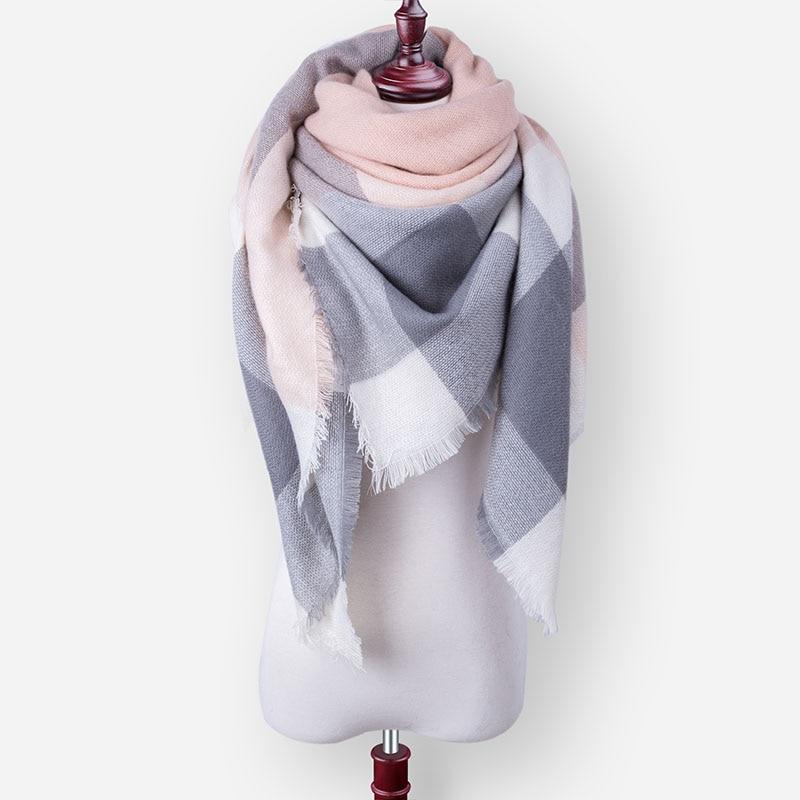 Бренд Evrfelan, шарфы, Прямая поставка, женский зимний шарф, высокое качество, плед, одеяло, шарф и шаль, большой размер, плотные шарфы, шали - Цвет: W32