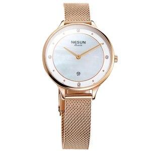 Image 2 - Nesun Vrouwen Horloges Top Luxe Merk Japan Import Quartz Parel Relogio Feminino Klok Diamond Horloges N8805 1