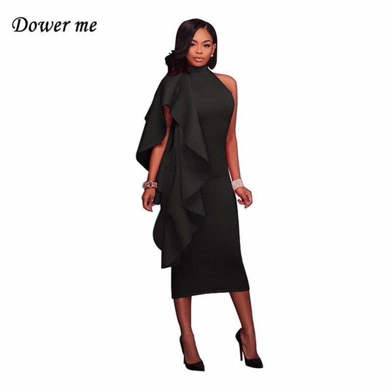 Модный пэчворк оборками женское платье vestidos элегантный сплошной Цвет Bodycon Дамы Платья для женщин женские пикантные вечерние платья yn2995