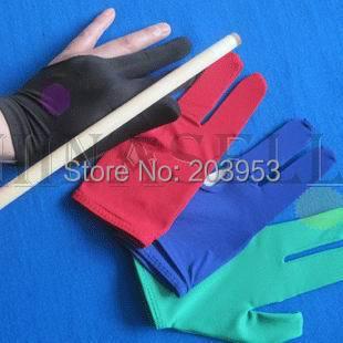 Luvas de bilhar taco de bilhar snooker três luvas de dedo elasticidade 8 9 bolas 9balls luvas