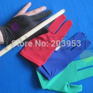 Elasticity Snooker Pool Billiards Cue Gloves Billiard Three Finger Glove 8 Balls 9balls Gloves
