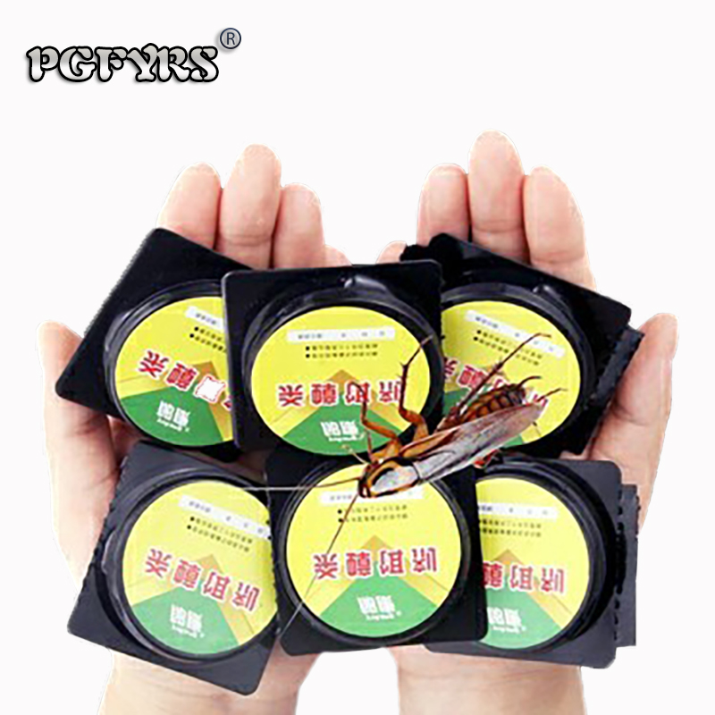 6pcs/2bags New Creative Cockroach killing bait Small black house Cockroach trap contagious cockroach Gel poison Bait Insecticide-in Baits & Lures from Home & Garden