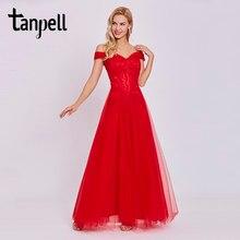 d333b94d05060 Omuz abiye kapalı Tanpell ucuz kırmızı kat uzunluk bir çizgi elbisesi zarif  kadın dantel gelinlik örgün uzun abiye elbise