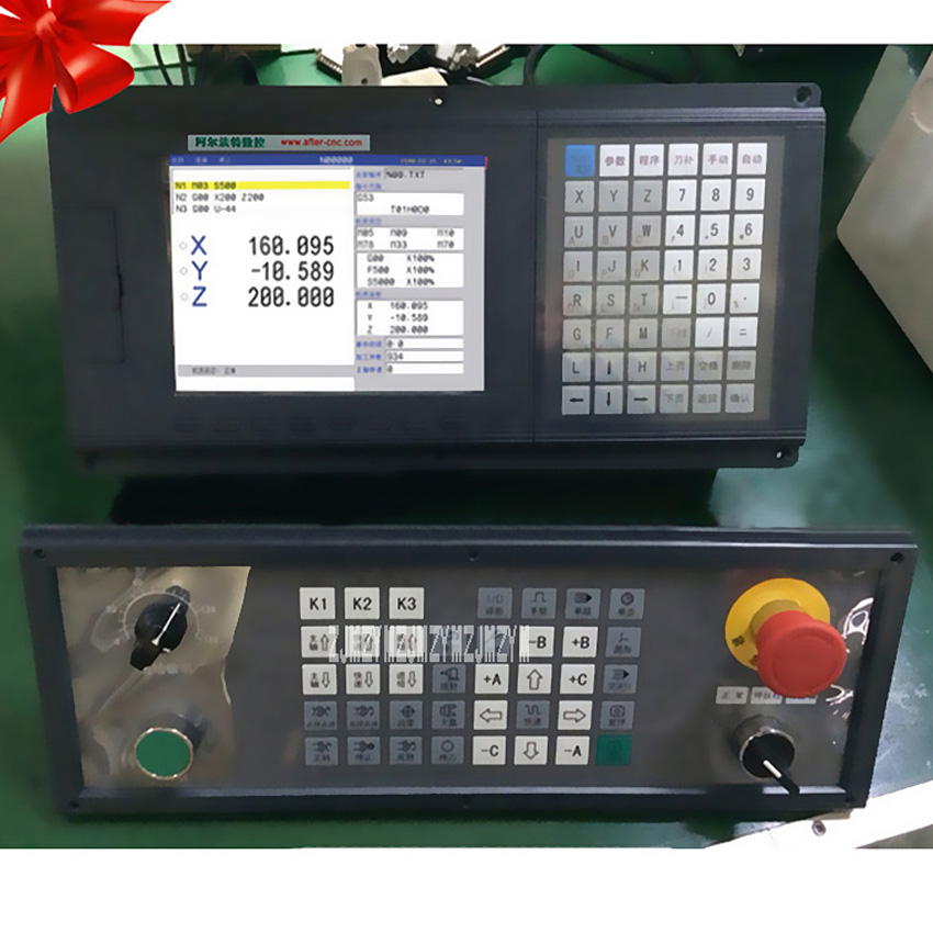 New 5 Axis CNC Lathe Controller for Lathe&Turning Machine 5 Axes 5 Linkage CNC1000TDb-five-axis Control Lathe System 1000TDb-5 richauto a18 dsp 4 axis linkage motion control system for cnc router machine