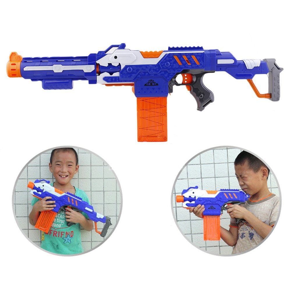 Kids Electric Soft Bullet Darts For Boy Gift Foam Weapons Pistol Sniper Rifle 20 Bullet 1 Target Shoot Gun Toys