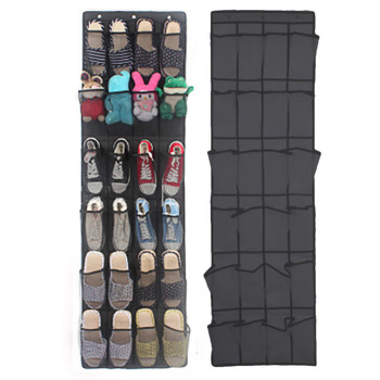24Pocket Hanging Shoe Organizer Mounted on for Household Use to Save Space at Home