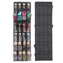 Organizador de zapatos de bolsillo, Organizador de zapatos para colgar en la puerta, bolsa de pared, soporte para armario, Organizador familiar para ahorrar espacio, suministros de decoración del hogar, 24 bolsillos