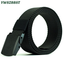 2019 New Spring Summer Canvas Belt for Women Men Outdoor Solid Color Quick drying Waist with Plastic Buckle