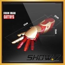 [Шоу. Z магазин] Cattoys MK42 рука вправо/1/1 светодиодный Броня ручной для Железный человек MK42 Mark42 XLII 4 носимых Blaster перчатку рука