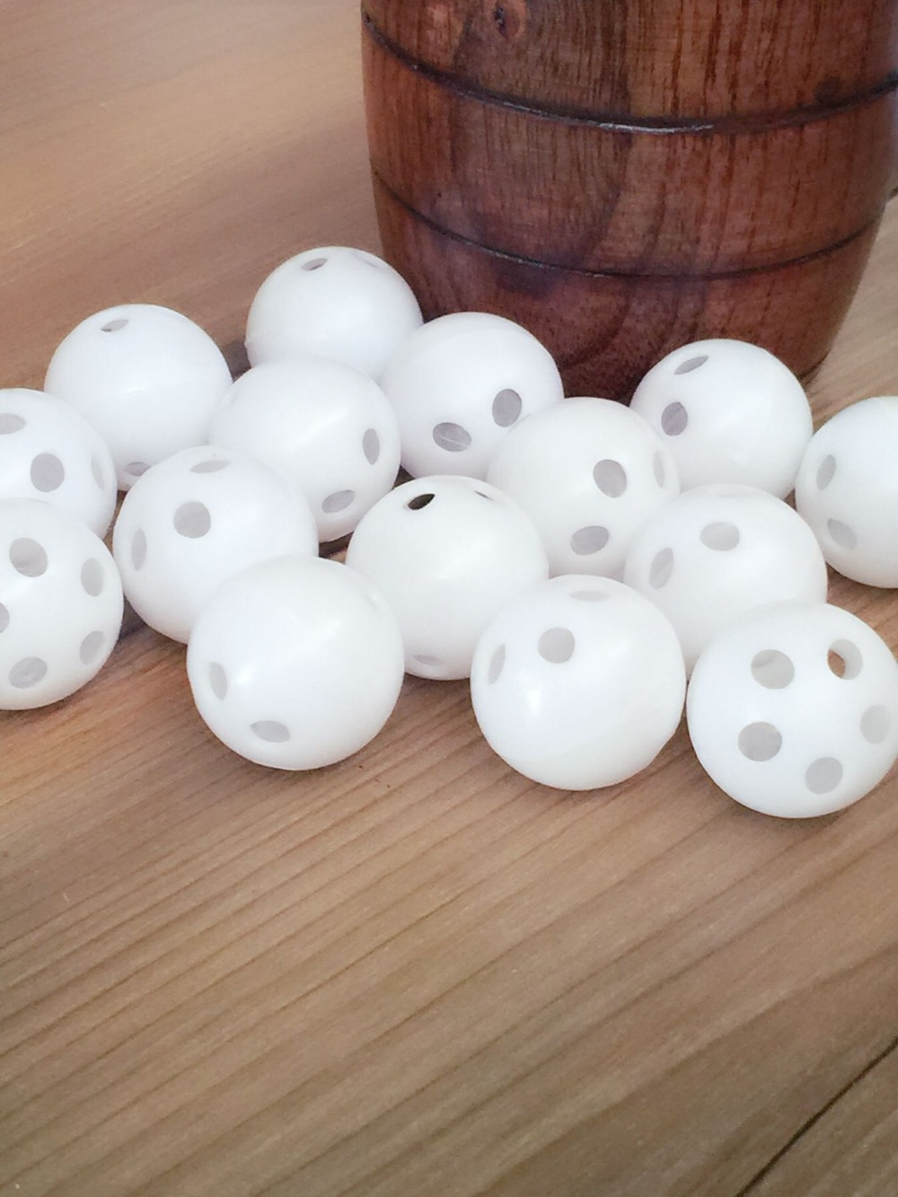 NEW 50pcs 28mm White Toy Rattle Ball Repair Replace Noise Maker Box For Toy Bear Doll