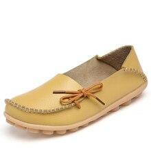 Nouvelles Femmes En Cuir Véritable Chaussures Mocassins Mère Mocassins Doux Loisirs Flats Femme Conduite Casual Chaussures Taille 35-44 20 couleurs