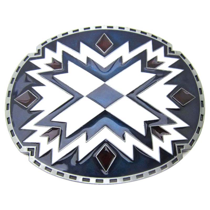 Pewter Belt Buckle novelty Southwest Indian Art NEW