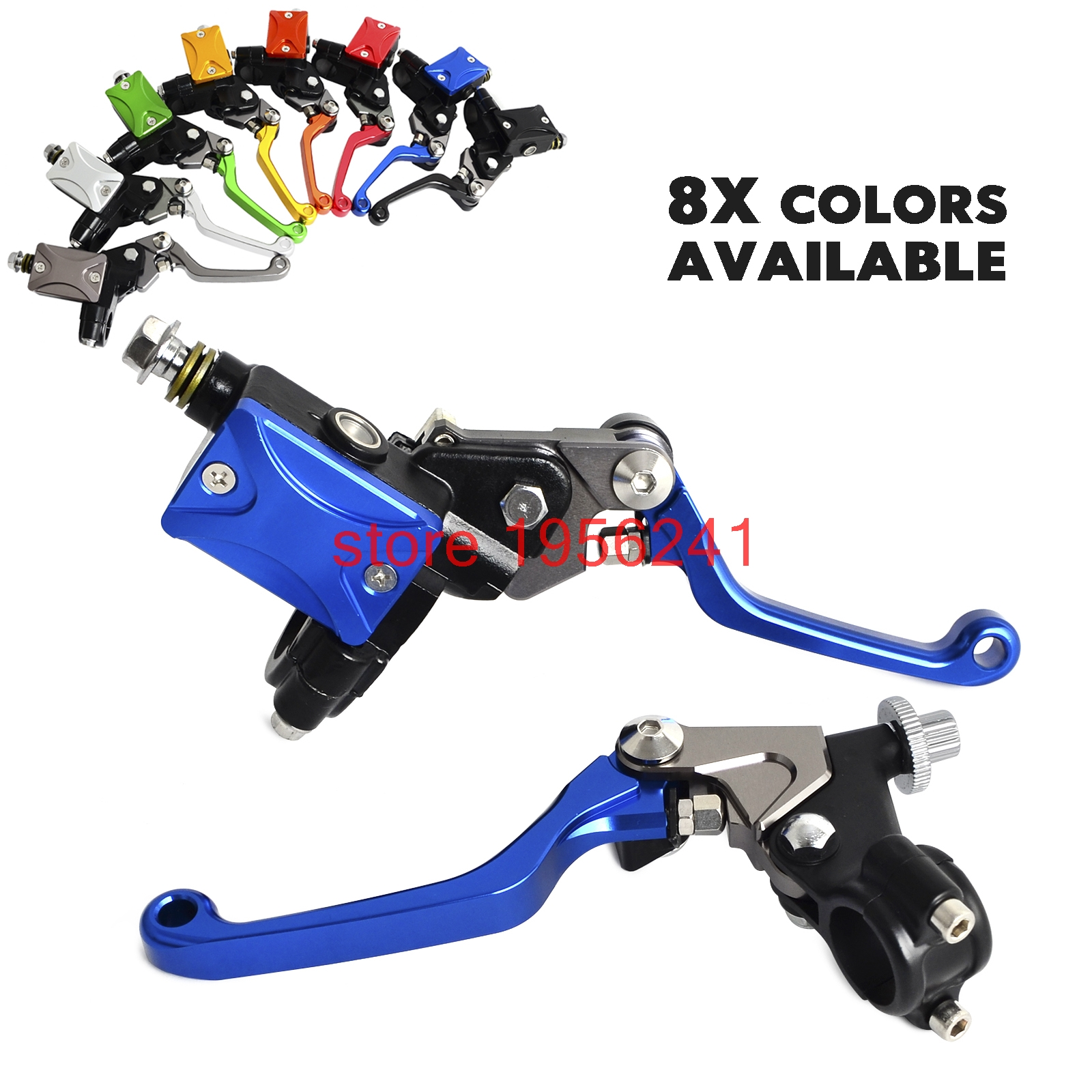 H2CNC Hydraulic Brake & Cable Clutch Lever Set Assembly For Honda CR85R CRF15R CR250R CRF250R CRF25X CRF450R CRF450X 7 8 lever brake clutch master cylinder set reservoir for honda crf150r crf250x crf250r crf450r crf450x crf230f sl230 xr250
