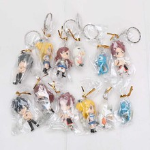 Anime Fairy Tail Figure Key Chain (6 Pcs Set)