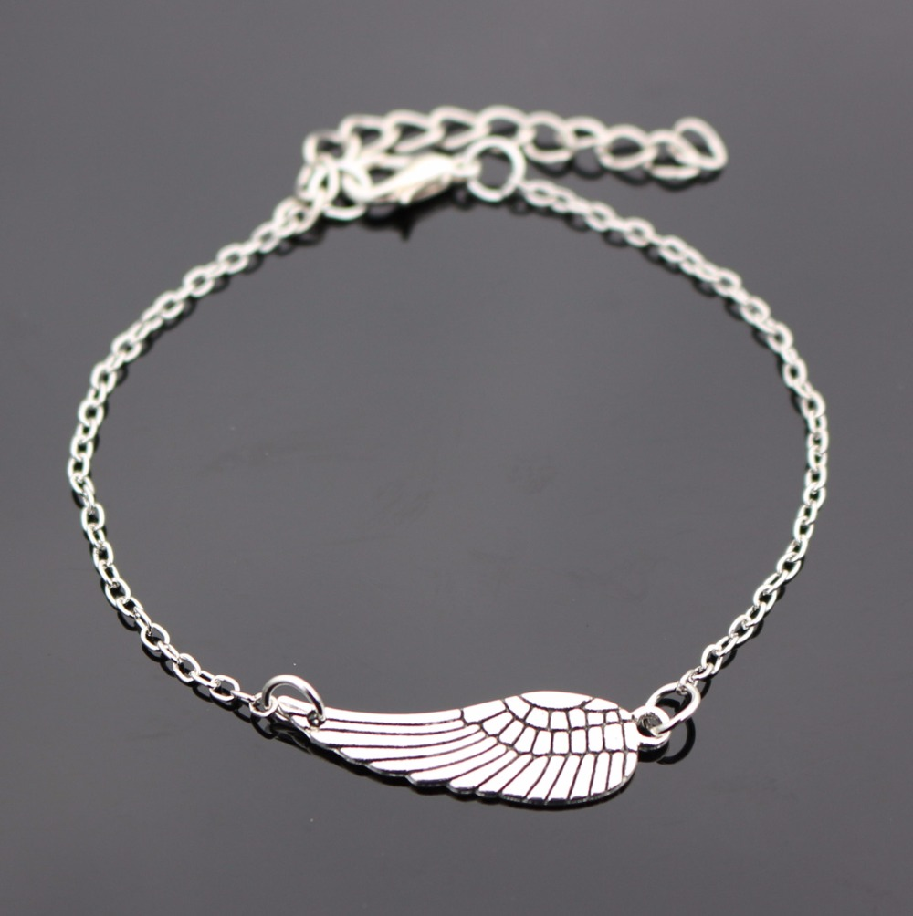 Bijoux New 2016 Love Vintage Silver Plated Wing Bracelet ...