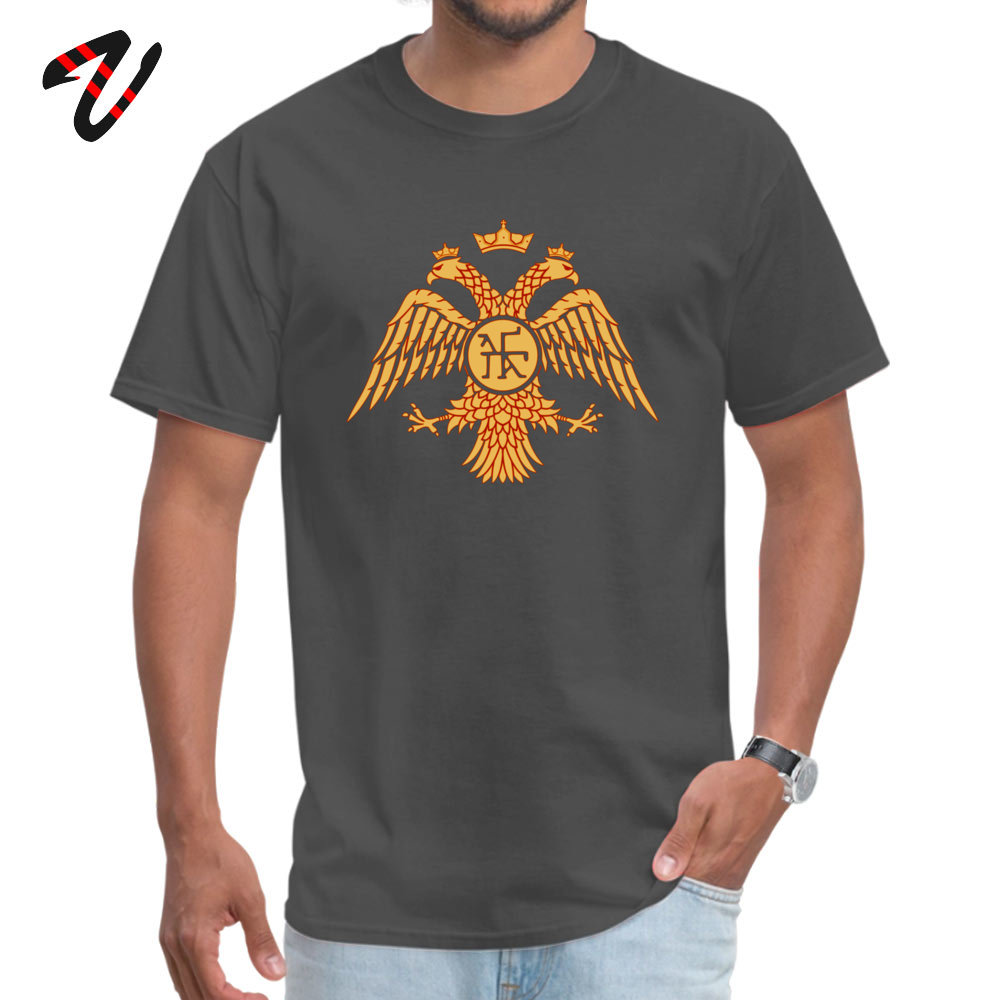 Byzantine Empire Tops T Shirt Summer/Autumn Crew Neck 100% Cotton Fabric Student Top T-shirts Design Top T-shirts 2018 Discount Byzantine Empire -15268 carbon