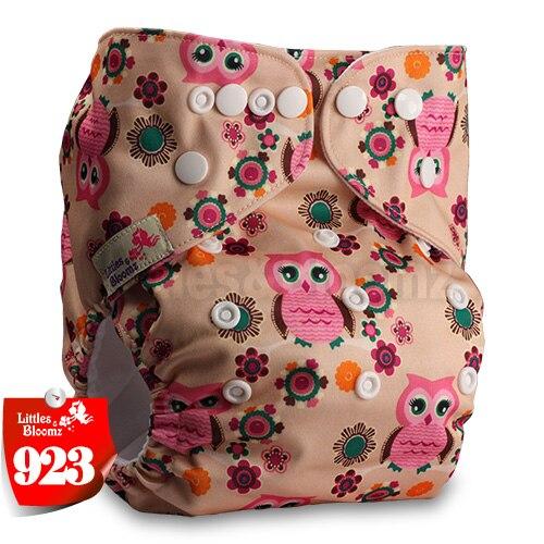 Littles& Bloomz детские моющиеся многоразовые подгузники из настоящей ткани с карманом для подгузников, чехлы для подгузников, костюмы для новорожденных и горшков, один размер, вставки для подгузников - Цвет: 923