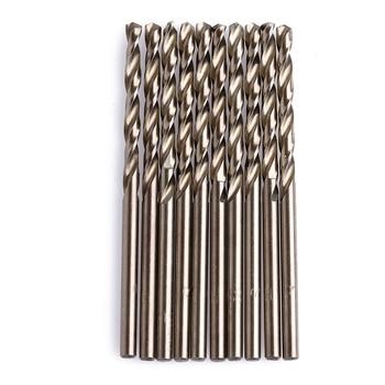10Pcs/Set 3mm M35 Triangle Shank HSS-Co Cobalt Twist Drill Spiral Drill Bit Drill Bits