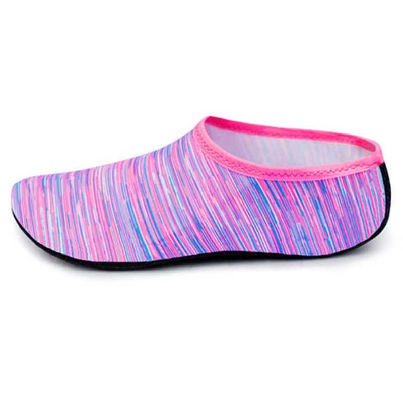 Mulher sapatos de praia esportes aquáticos calçado de natação piscina aqua sapatos de mergulho meia recife de mar molhado descalço tênis chinelos