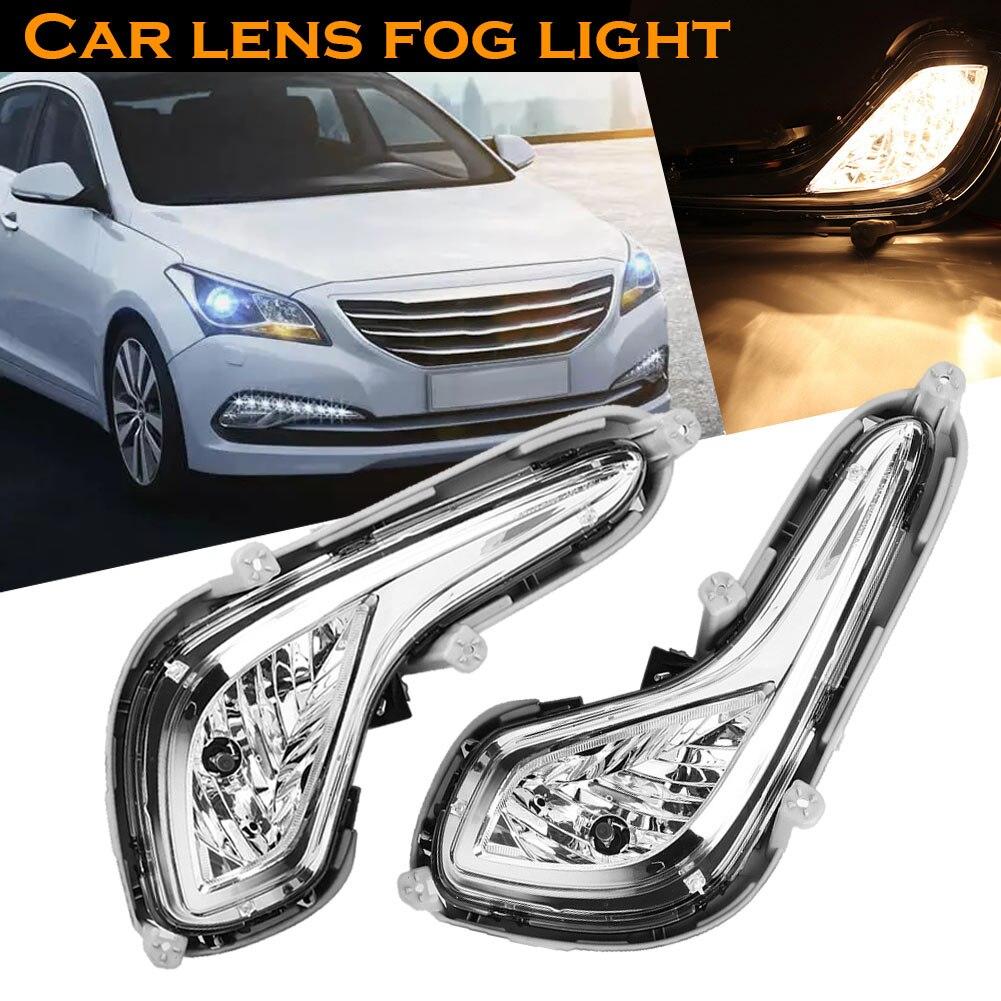 1 paire Front Effacer Pare-chocs Brouillard Lampe Lumières avec Ampoules pour Hyundai Accent 2012-2014 DXY88
