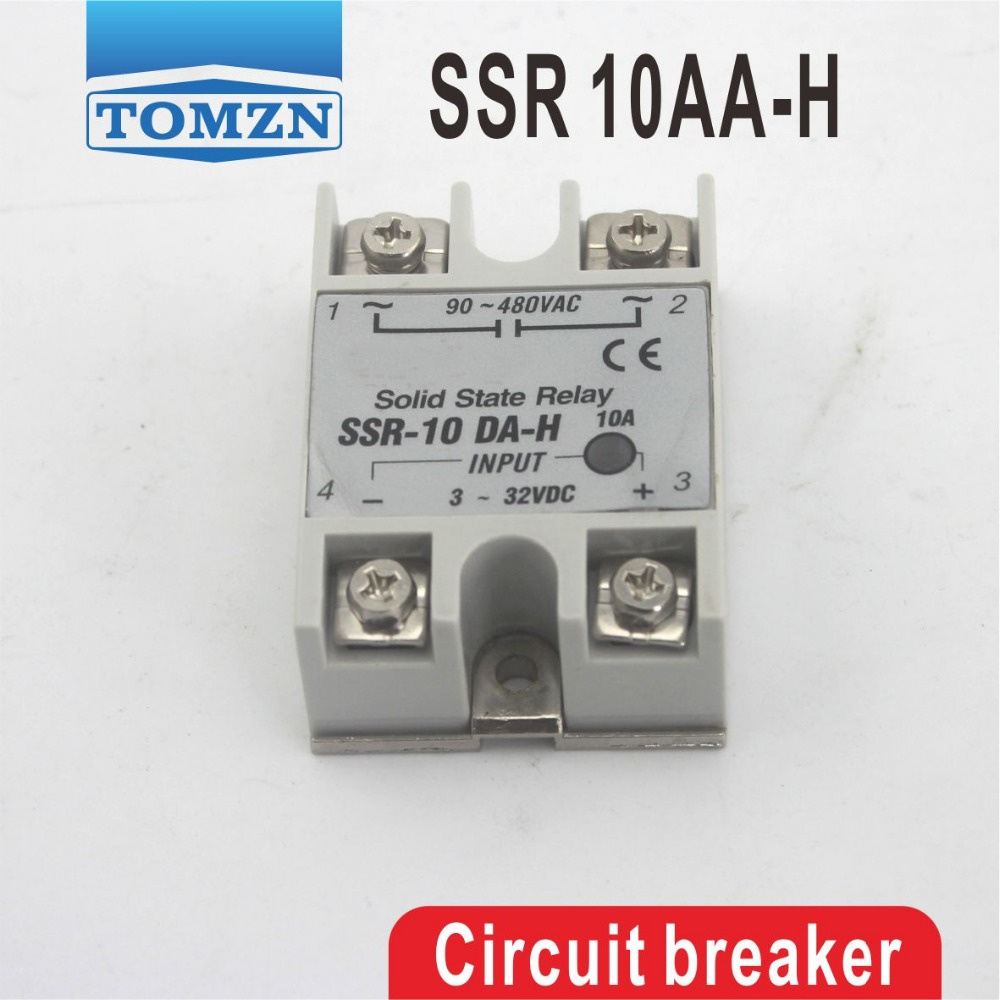 10AA SSR 10AA-H High voltage type input 80-250V AC load 24-380V AC single phase AC solid state relay high quality ac ac 80 250v 24 380v 60a 4 screw terminal 1 phase solid state relay w heatsink