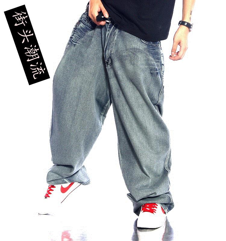 REASARD BRAND Russian Baggy Fit Jeans for men/wide leg big size hip hop skate jeans man /jeans hommes patte large russian phrase book