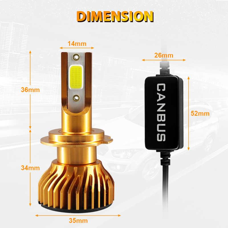HLXG Mini lampada car light led h7 10000LM 12V 50W 6000k lamp h11 H1 h8 hb3 hb4 9005 9006 h4 bulb headlight luces para auto LED