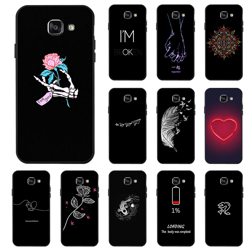 Black Silicone Case For Samsung Galaxy A5 2016 Cases TPU Phone Cover For Samsung A5 2016 A510F SM-A510F A5+ A510 5.2 inch Covers(China)