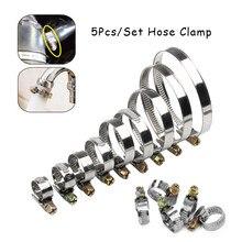 5 pçs/pçs/set braçadeiras de tubulação jubileu genuíno aço inoxidável mangueira clips mangueira de combustível braçadeiras de tubulação worm drive durável anti-oxidação
