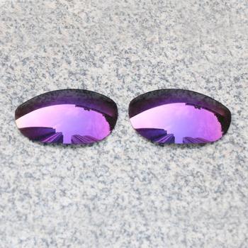E O S spolaryzowane wzmocnione wymienne soczewki do Oakley Monster okulary przeciwsłoneczne dla psa-fioletowe fioletowe lustro spolaryzowane tanie i dobre opinie Eye Opening Stuff Poliwęglan Okulary akcesoria Fit for Oakley Monster Dog Frame UV400 One size inches As your choice Reduces glare and impact resistant
