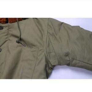 Image 4 - Repro US Army B 11 abrigo largo de algodón para hombre, Parka, verde, uniforme militar Vtg
