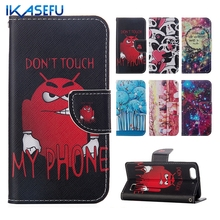 IKASEFU Cartoon Leather Flip Case for HUAWEI Honor 4C Phone Shell Magnet Closure Card Slot Wallet Cover for Huawei Honor 4C 5.0