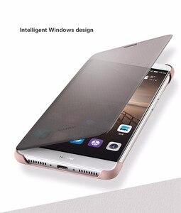 Image 2 - Voor Huawei Mate 9 Case Officiële intelligente Smart View Vindow PU Leather Case Voor Huawei Mate 9 Flip Cover Volledige beschermende Gevallen