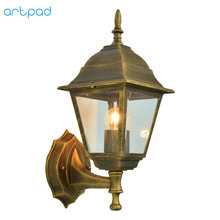 купить Artpad European LED Outdoor Waterproof Wall Lamp Outdoor Indoor Balcony Porch Corridor Garden Lighting Aluminium Wall Light по цене 1804.39 рублей