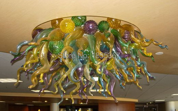 Free Shipping Hotel Art Murano Glass Lighting Flush Mount Glass Chandelier For WeddingFree Shipping Hotel Art Murano Glass Lighting Flush Mount Glass Chandelier For Wedding