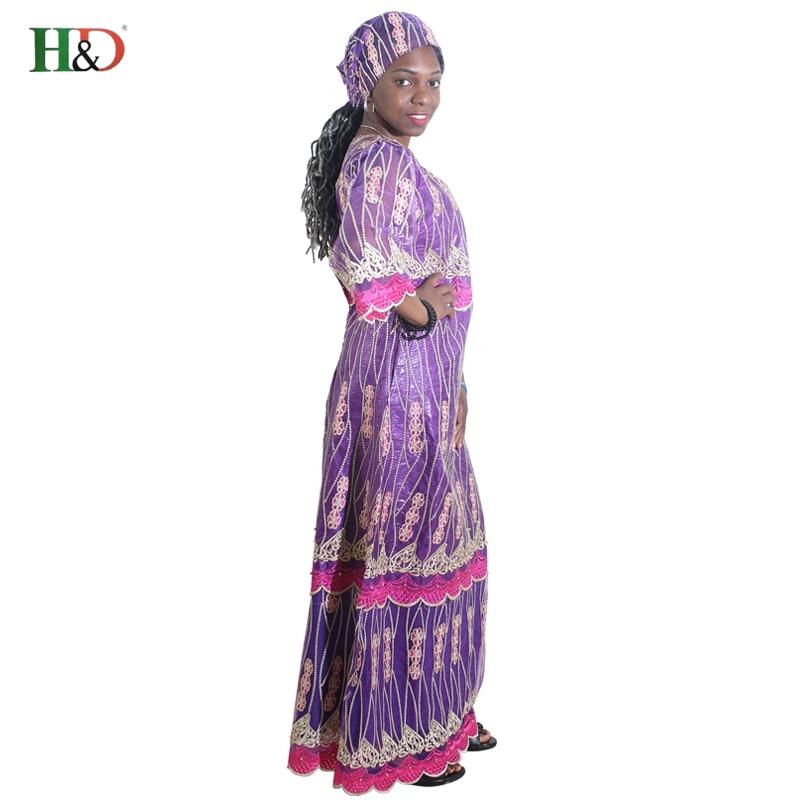 H & D africa stil kläder riche bazin afrikanska kvinnor spets outfit - Nationella kläder - Foto 2