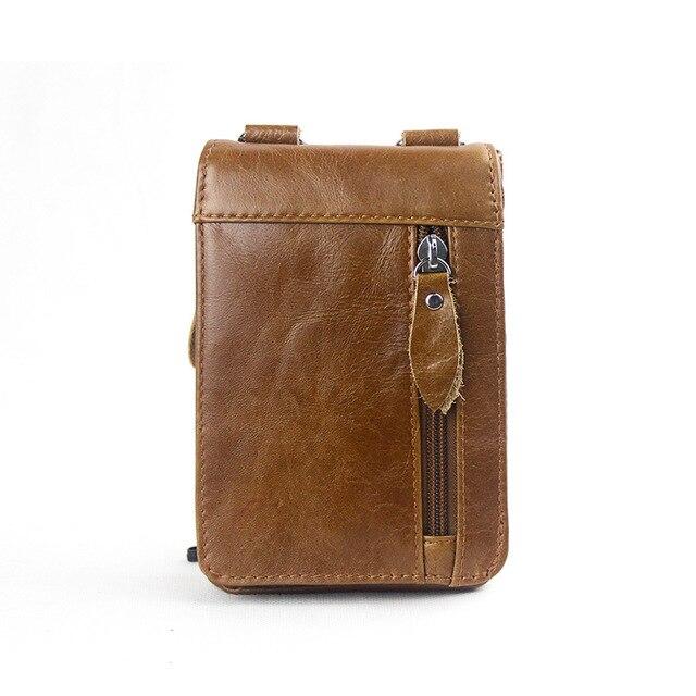 Grain Leather Men messenger Bag